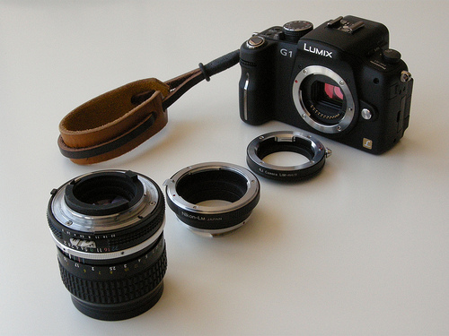 Lumix G1 Adapters with Nikon 85mm Lens