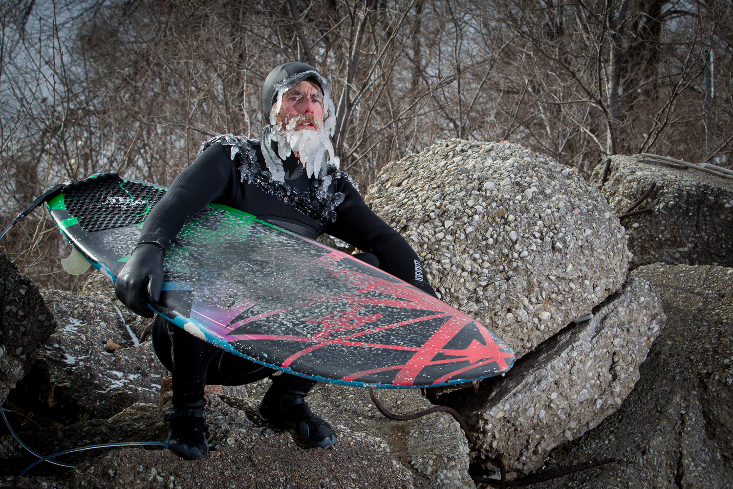Lake surfing gives you ice beards