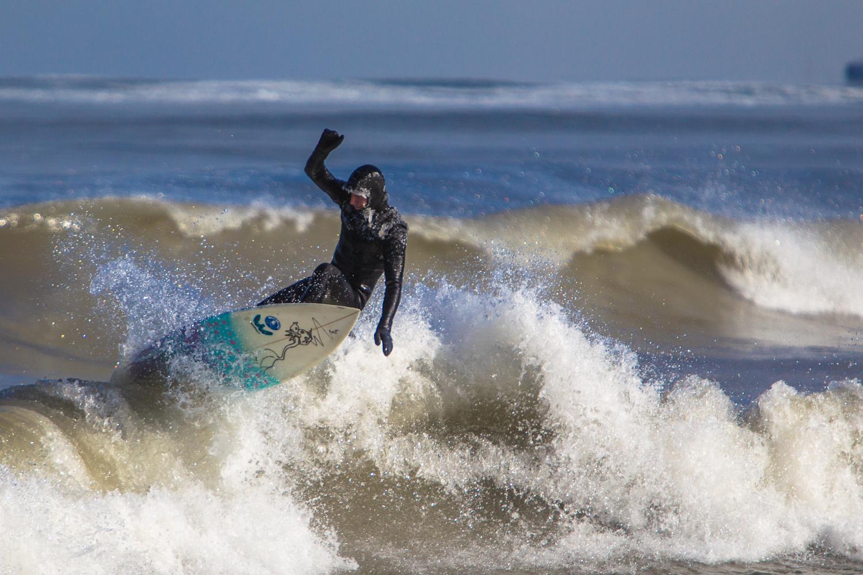 Mike lake surfing