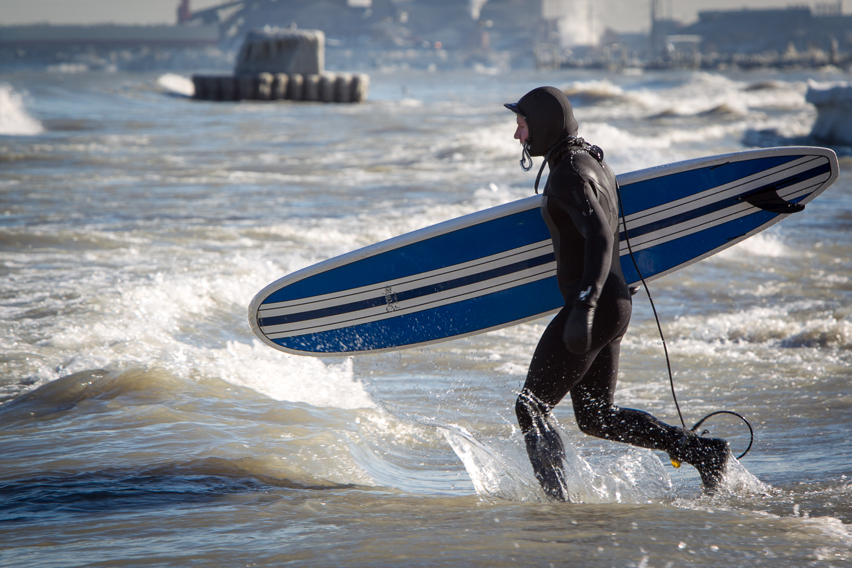 Another adventurer lake surfing