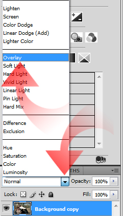 select overlay in photoshop