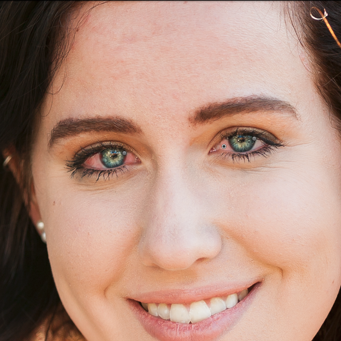 painting the whites of the eyes in lightroom cc