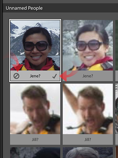 Lightroom guessing faces within Face Detection feature