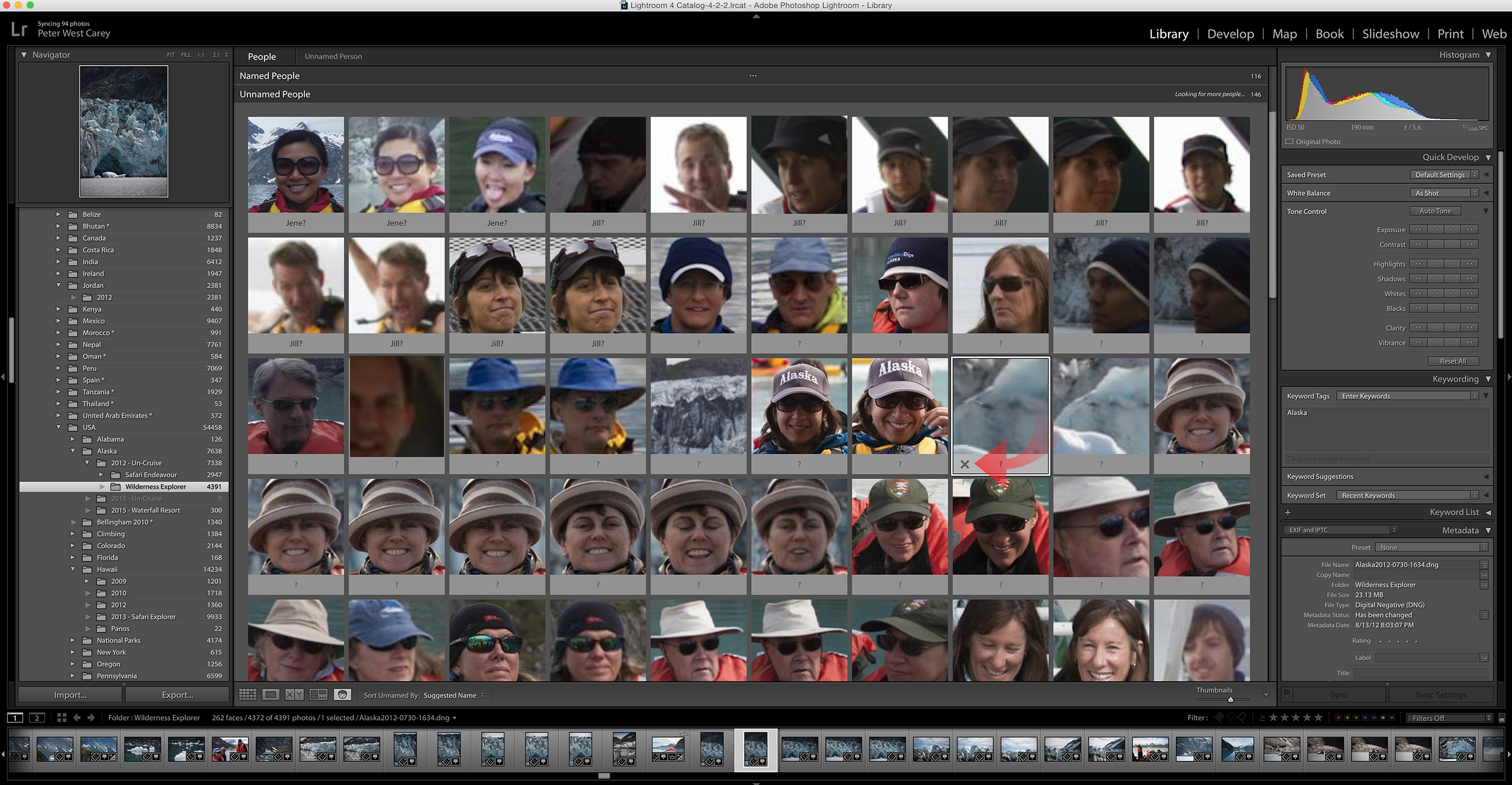 Removing guessing in Lightroom's Face Detection feature