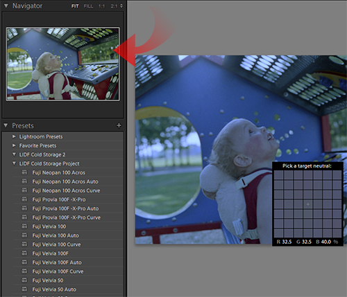 Watch the preview window for proper color.