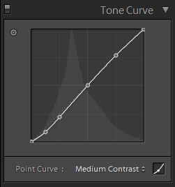 control points on the tone curve