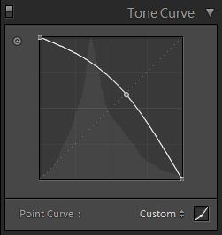 dragging control points on the tone curve